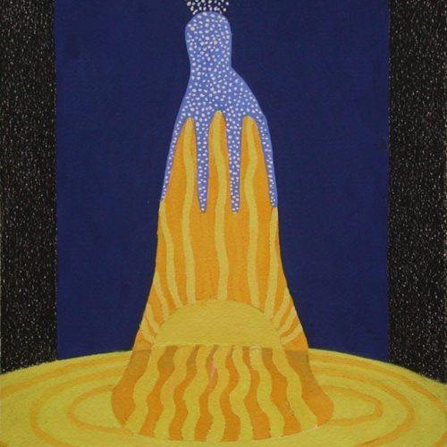 Traumgestalt gouache/contépotlood op papier 20x24cm, 2010