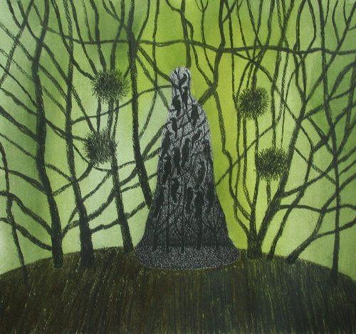 Traumgestalt gouache/houtskool op papier 34x31cm, 2010