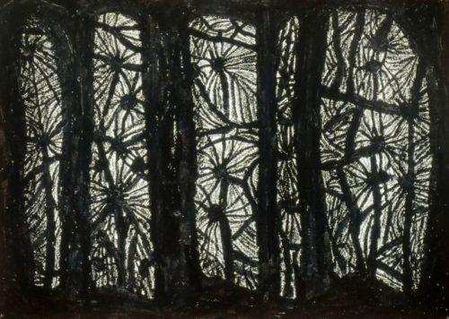 Z.T. paintstick & oliepastel op papier 65.5x47.5cm, 2009