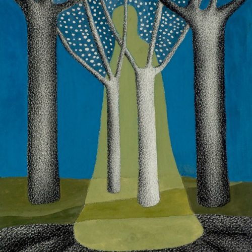 Traumgestalt gouache/contépotlood op papier 20x24cm, 2009